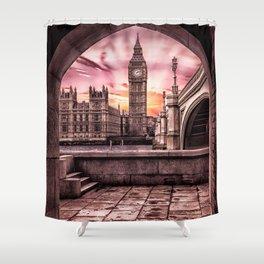 London - Big Ben Shower Curtain
