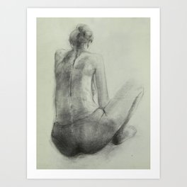 Reading Woman Art Print