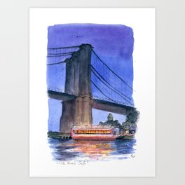 The River Cafe Art Print