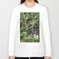 hawaiian Long Sleeve T-shirts featuring Hawaiian Jungle by Moody Muse