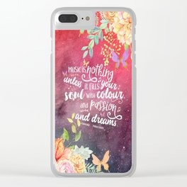 A Thousand Perfect Notes quote 2 Clear iPhone Case