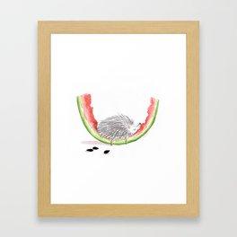 Watermelon Hedgie Framed Art Print