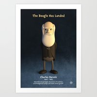 darwin Art Prints featuring Charles Darwin by Chayground