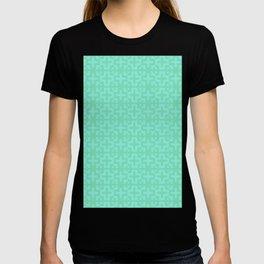 Nordic Cross - Mid Century Modern Geometric Light Green T-shirt