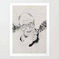 lama Art Prints featuring Dalai Lama by RiversAreDeep