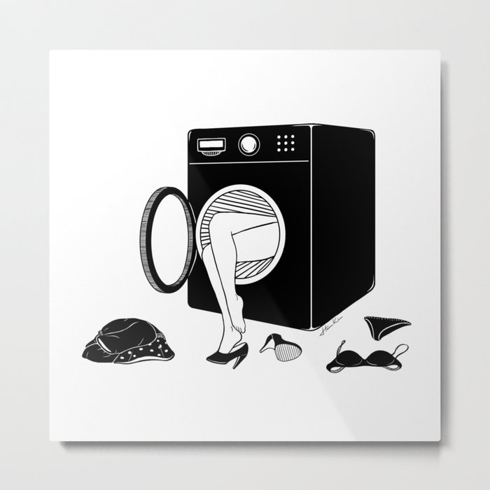 Washing Bad Memories Metal Print