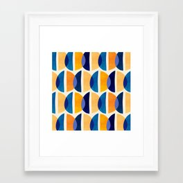 Night And Day Abstract / Geometric Pattern Framed Art Print