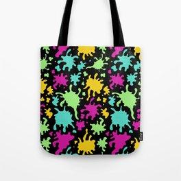 Colorful Paint Splatter Pattern Tote Bag