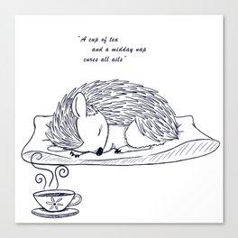 Tea and Sleep Canvas Print