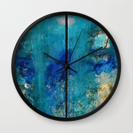 Soulmate Diptychon - Original Art Canvas Painting by Jacob von Sternberg aka Anutu Wall Clock