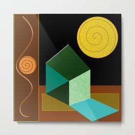 Modern Geometric Textured Abstract Metal Print