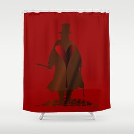 Jack the Ripper Heart Shower Curtain