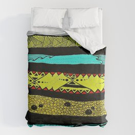Sideways abstract  Duvet Cover