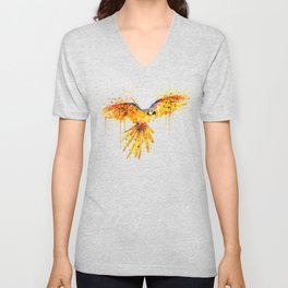 Flying Parrot watercolor Unisex V-Neck