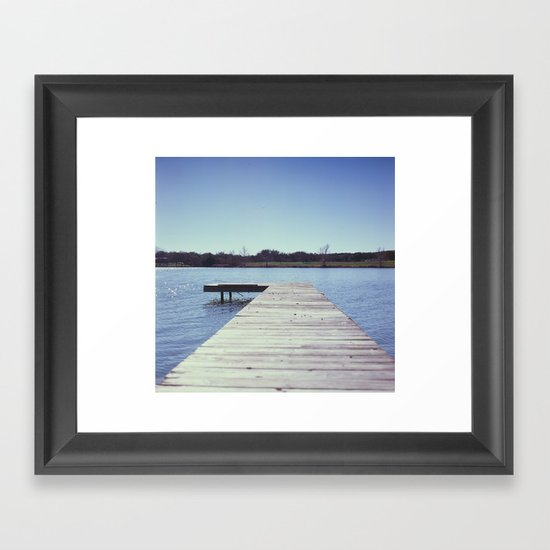 Lone Dock Framed Art Print