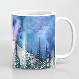 """Mountain Calling"" galaxy landscape painting Coffee Mug"