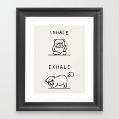 Inhale Exhale English Bulldog Framed Art Print