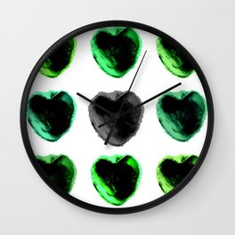 A Clay Pot Heart Wall Clock