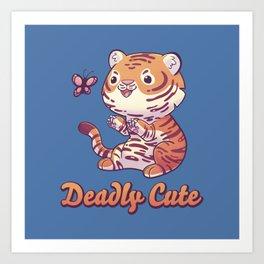 Deadly Cute Tiger Art Print