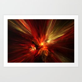 combustion Art Print