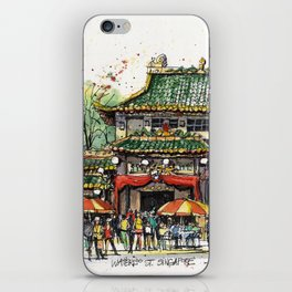 Chinese Temple on Waterloo Street, Singapore iPhone Skin