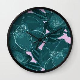Intrepid Blooms (Emerald) Wall Clock