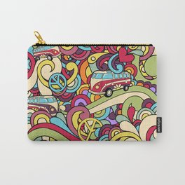 Colorful Hippie Swirl Pattern 2 Carry-All Pouch