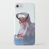 hippo iPhone & iPod Cases featuring Hippo by MGNFQ