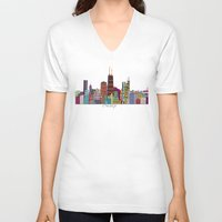 chicago bulls V-neck T-shirts featuring Chicago  by bri.buckley