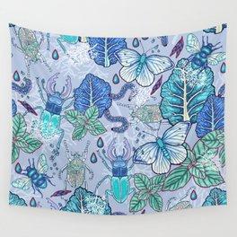 Frozen bugs in the garden Wall Tapestry
