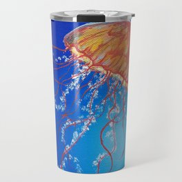 Jellyfish, Oil painting by Faye Travel Mug