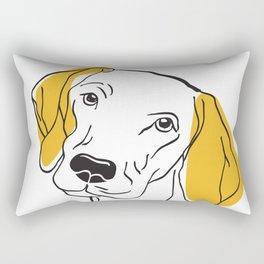 Dog Modern Line Art Rectangular Pillow
