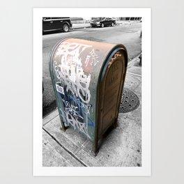 New York City Mailbox Graffiti Art Print