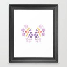 Vivillon Elegant Form Framed Art Print