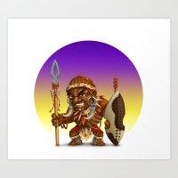 Warrior African Art Print