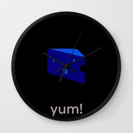 yum! cheese Wall Clock