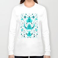 transformer Long Sleeve T-shirts featuring Triangle Alien Transformer Attack  by badbugs_art