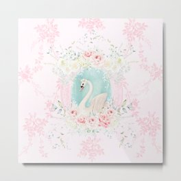 Romantic Swan Metal Print