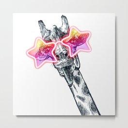 Giraffe Pal Metal Print