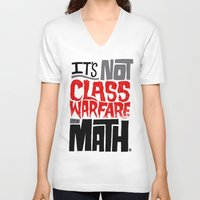 math V-neck T-shirts featuring It's Math by Chris Piascik