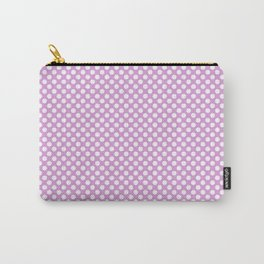 Polka Dots Pattern-Violet Carry-All Pouch