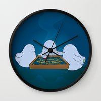 ouija Wall Clocks featuring Ouija Board by mangulica illustrations