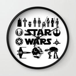 Star Characters Wars Wall Clock