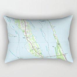 Northern Outer Banks North Carolina Map (1985) Rectangular Pillow