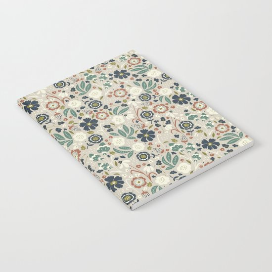 Flourishing Florals (Light-Green) Notebook
