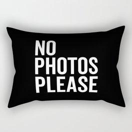 No Photos Please 2 Funny Quote Rectangular Pillow