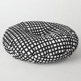 Black and White Gingham Floor Pillow