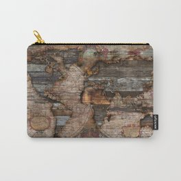 Reclaimed Map Carry-All Pouch