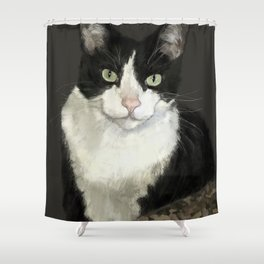 Cat Eightball Shower Curtain