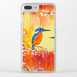 Kingfishers with red, orange and yellow Clear iPhone Case